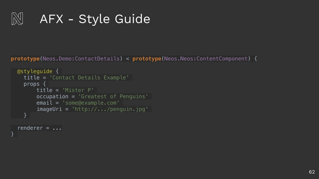 AFX - Style Guide 62 prototype(Neos.Demo:Contac...