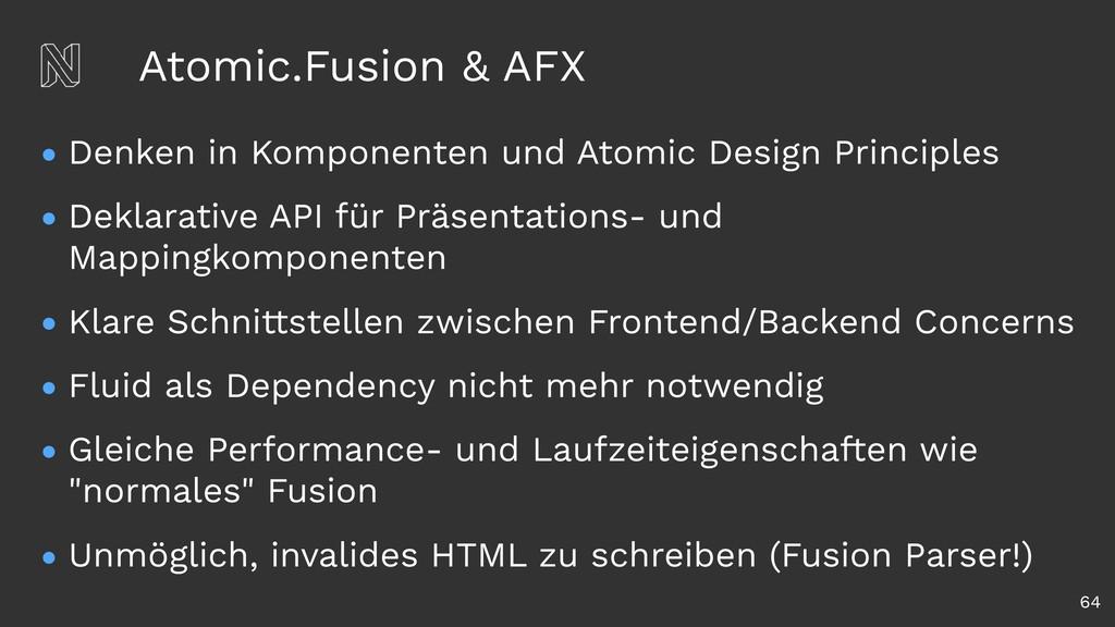 Atomic.Fusion & AFX • Denken in Komponenten und...