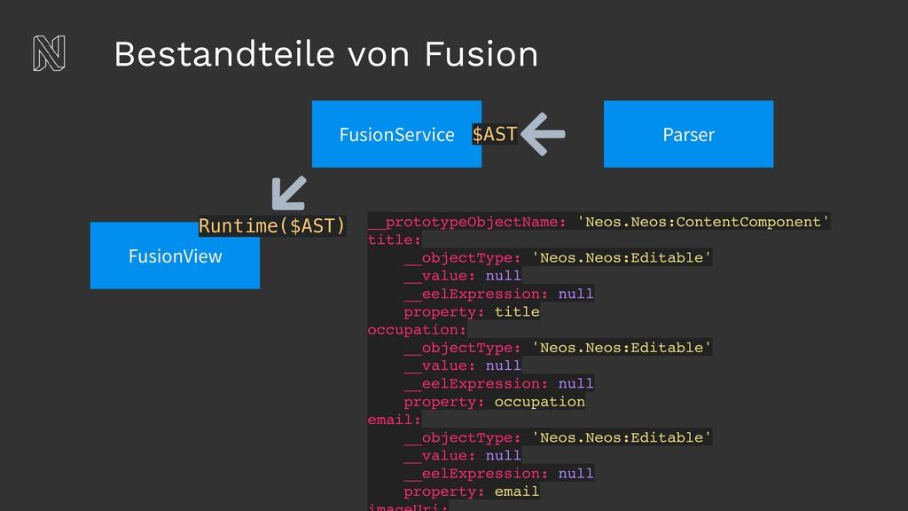 Bestandteile von Fusion Parser FusionView Runti...