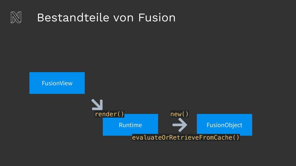 Bestandteile von Fusion FusionView Runtime rend...