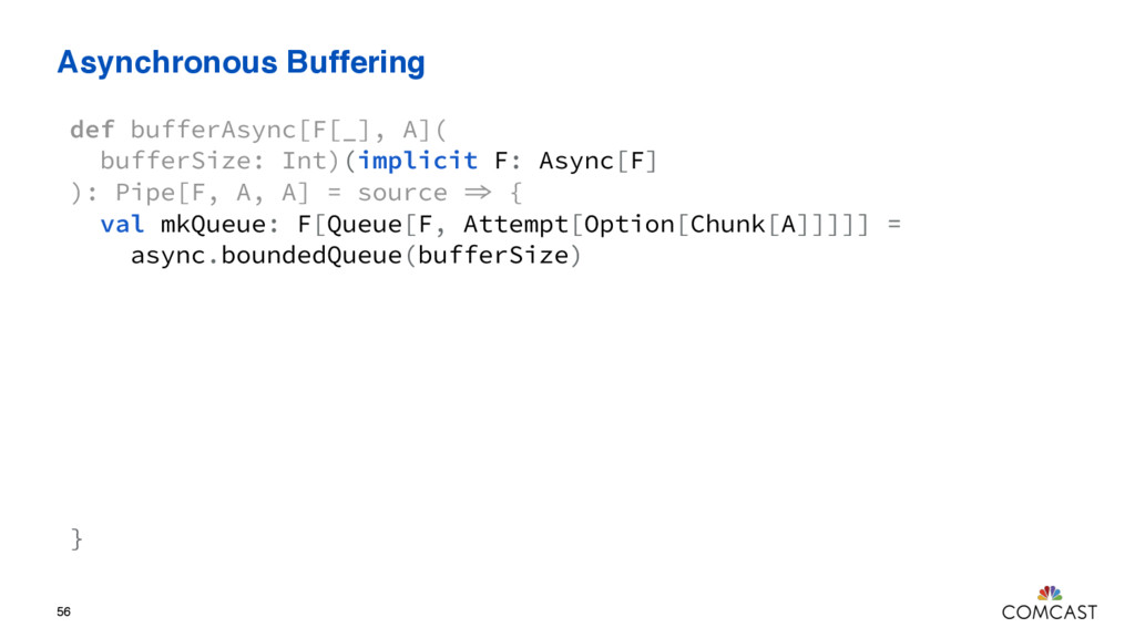 Asynchronous Buffering 56 def bufferAsync[F[_],...
