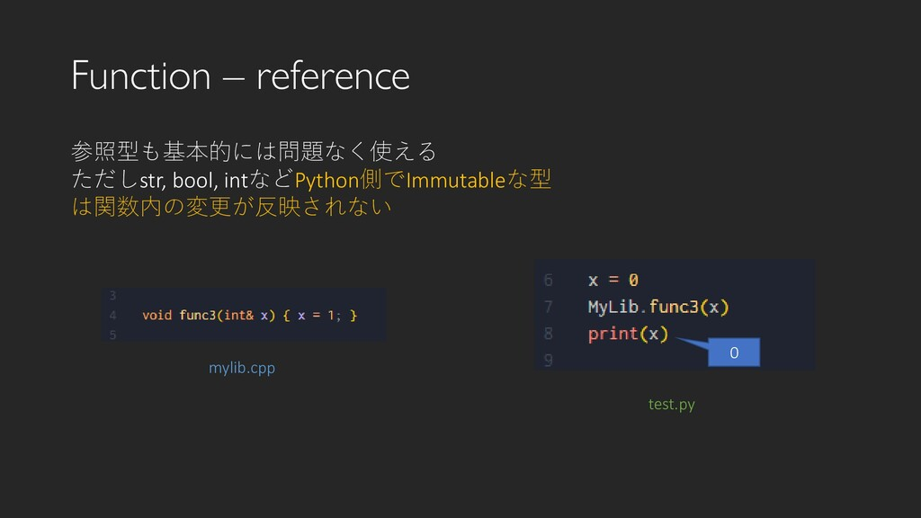 Function – reference test.py 参照型も基本的には問題なく使える た...