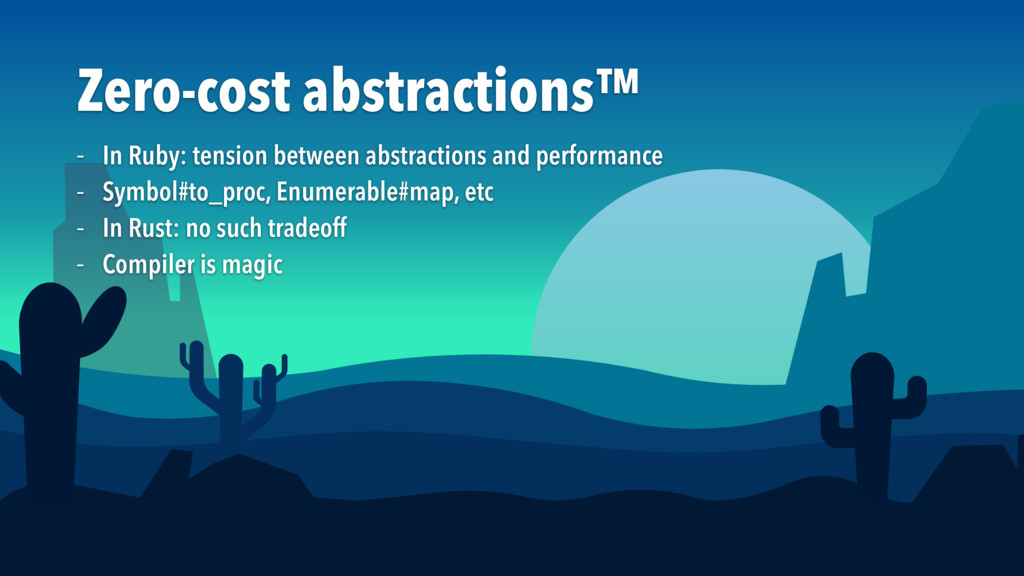 Zero-cost abstractions™ – In Ruby: tension betw...