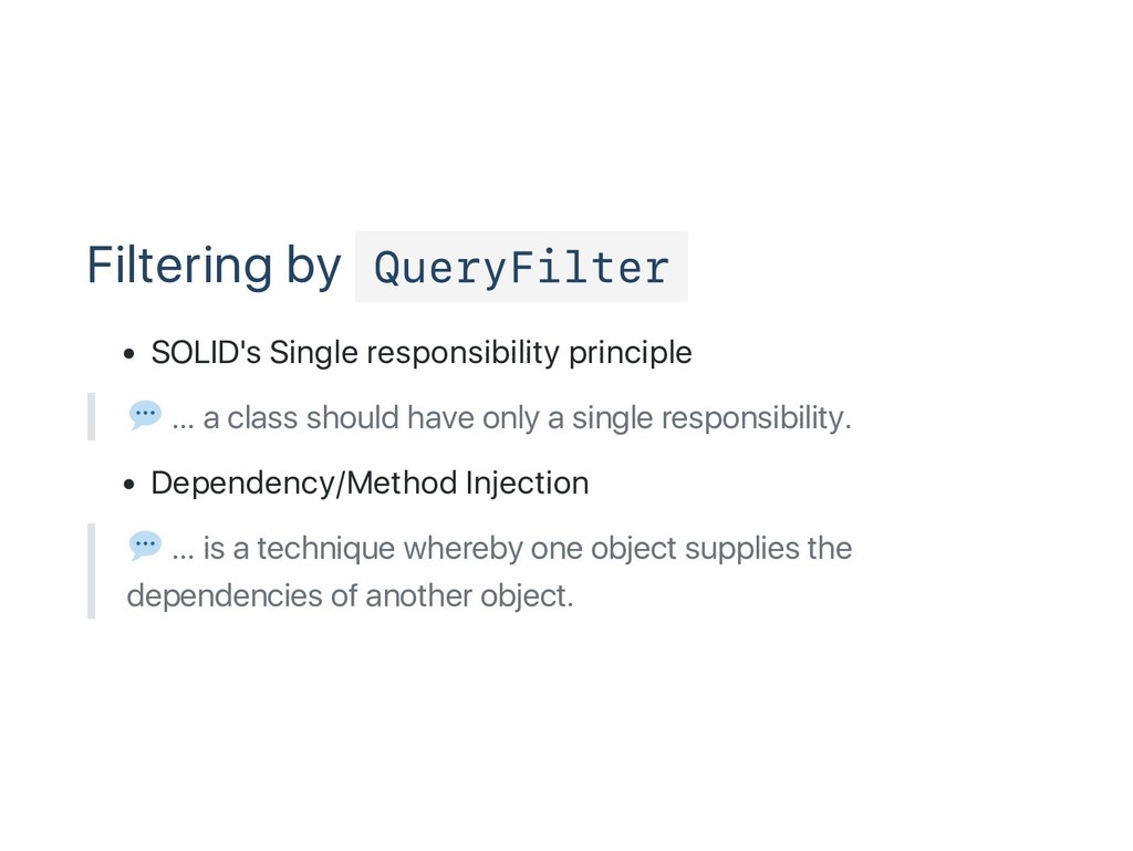 Filtering by QueryFilter SOLID's Single respons...