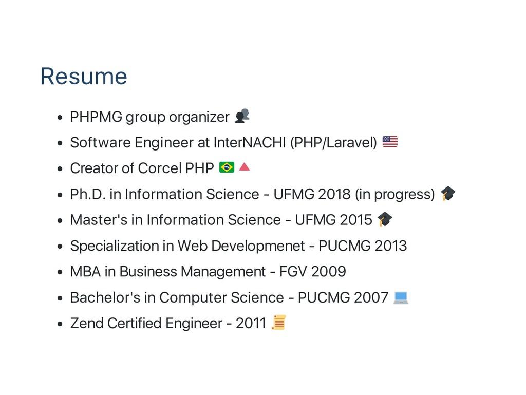 Resume PHPMG group organizer Software Engineer ...