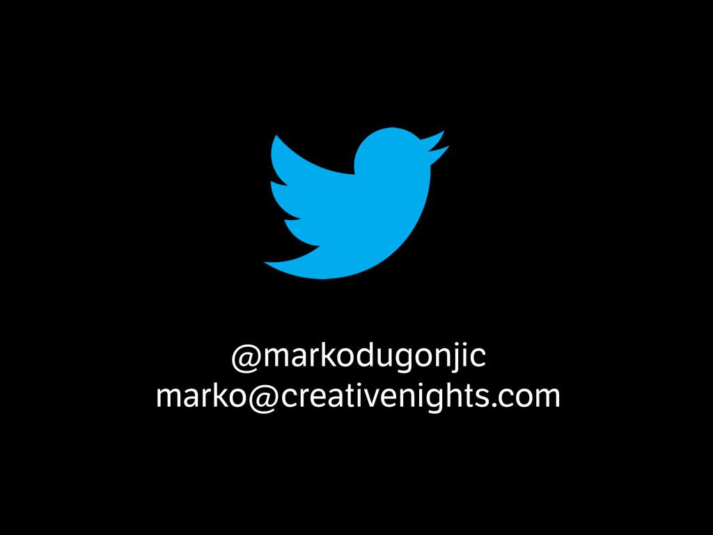 @markodugonjic marko@creativenights.com