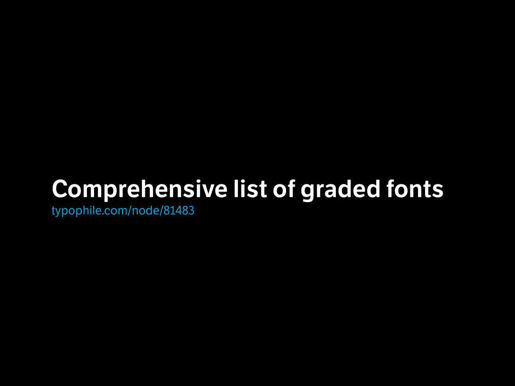 Comprehensive list of graded fonts typophile.c...
