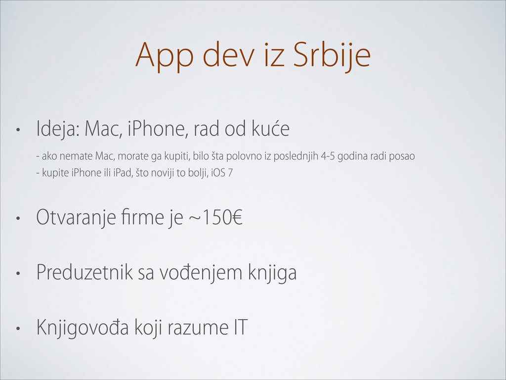 App dev iz Srbije • Ideja: Mac, iPhone, rad od ...