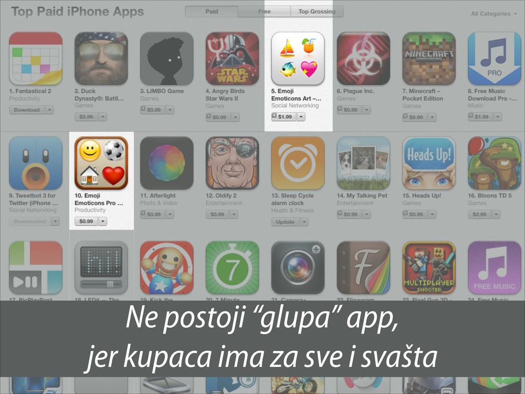"""Ne postoji """"glupa"""" app, jer kupaca ima za sve i..."""