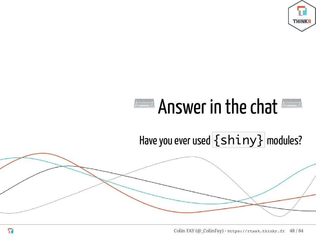 ⌨ Answer in the chat ⌨ Have you ever used {shin...