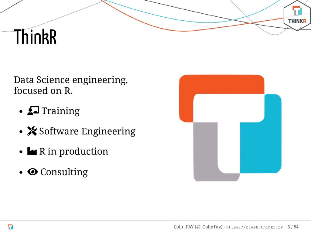 Data Science engineering, focused on R.  Train...