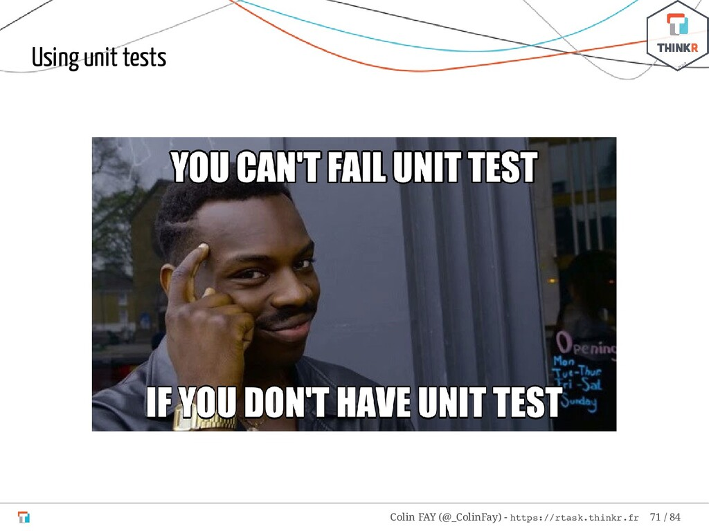 Using unit tests Colin FAY (@_ColinFay) - https...