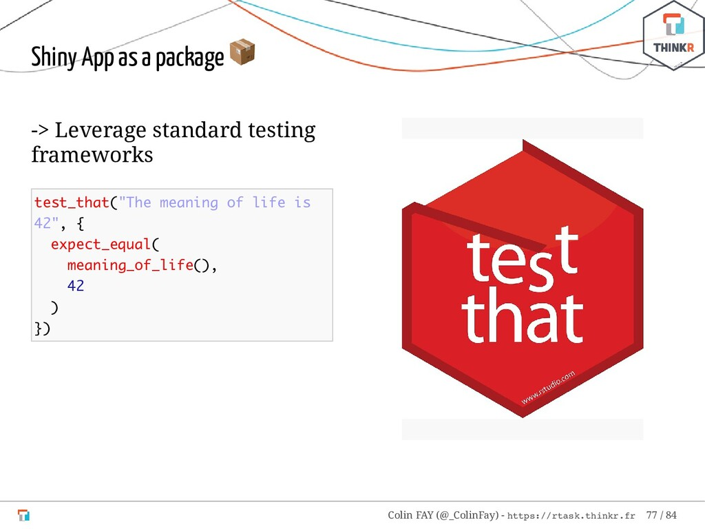 -> Leverage standard testing frameworks test_th...