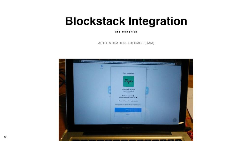 Blockstack Integration t h e b e n e f i t s AU...