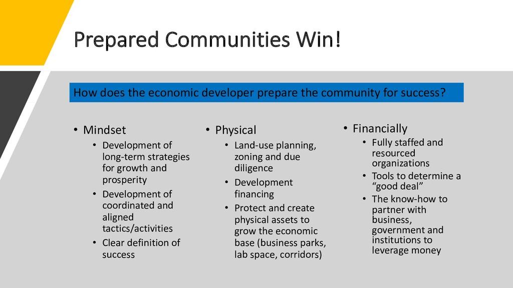 Prepared Communities Win! • Mindset • Developme...