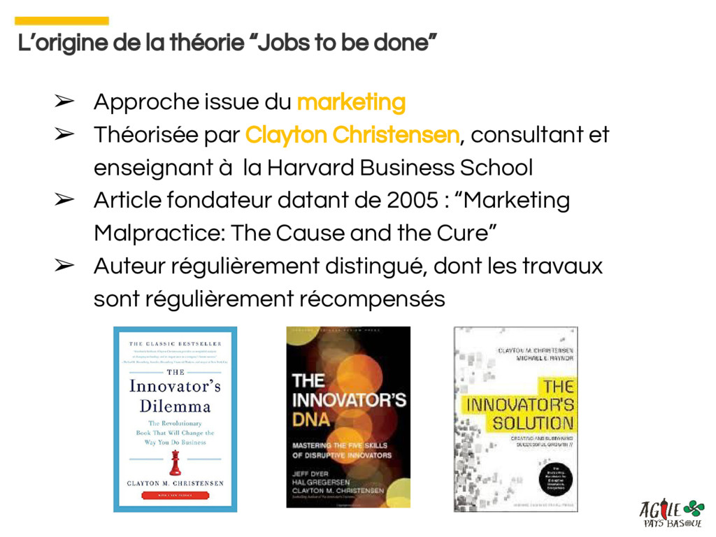 ➢ Approche issue du marketing ➢ Théorisée par C...