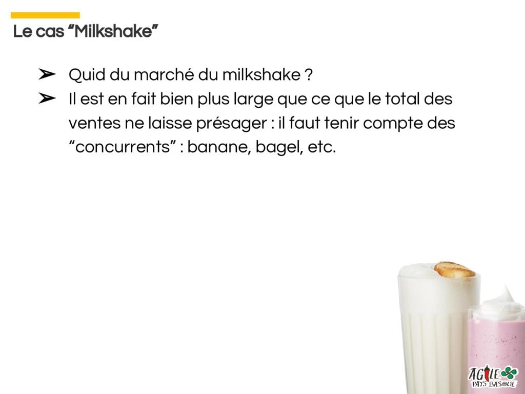 ➢ Quid du marché du milkshake ? ➢ Il est en fai...