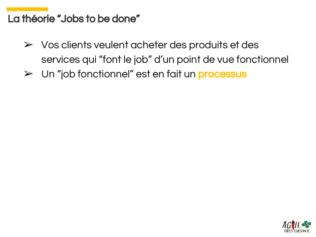 "La théorie ""Jobs to be done"" ➢ Vos clients veul..."