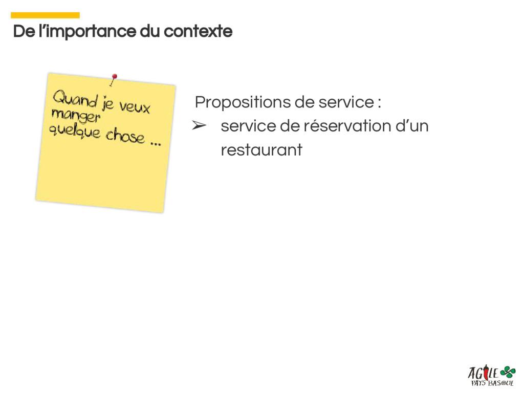 Propositions de service : ➢ service de réservat...