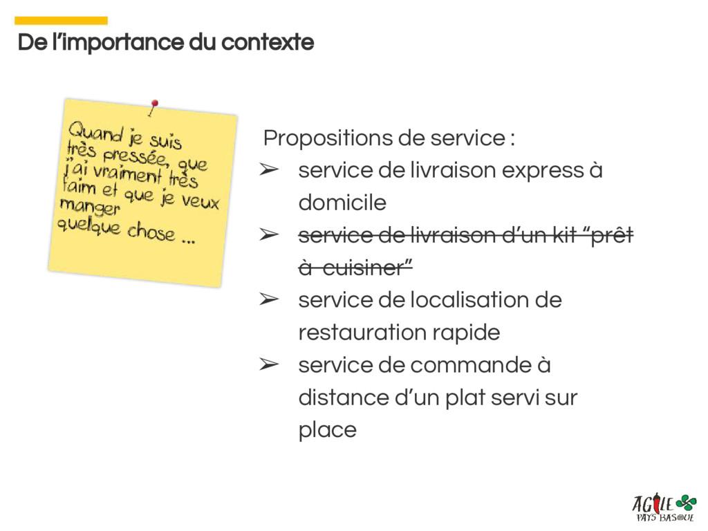Propositions de service : ➢ service de livraiso...