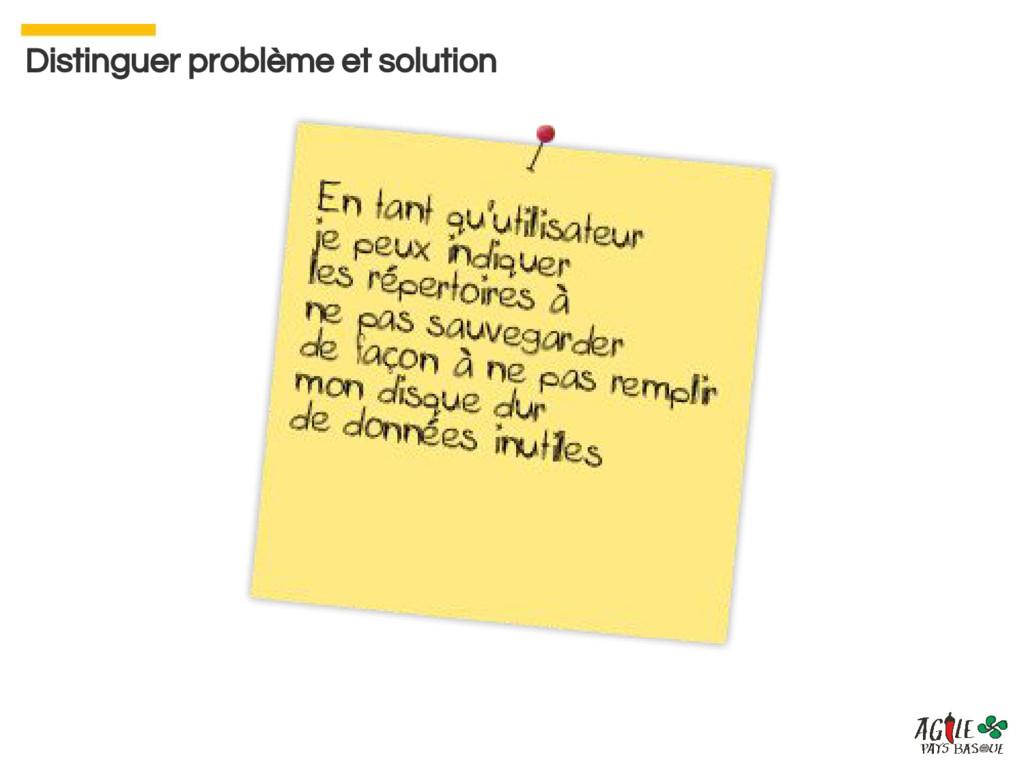 Distinguer problème et solution