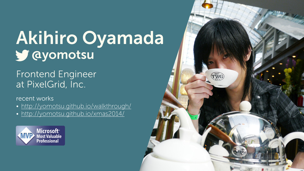 Frontend Engineer at PixelGrid, Inc. @yomotsu r...