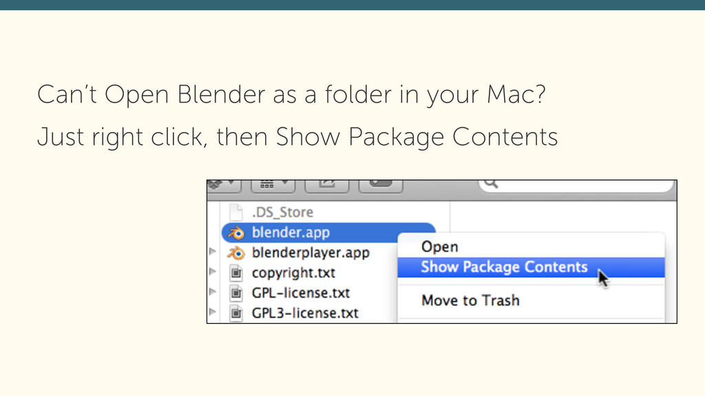 Can't Open Blender as a folder in your Mac? Jus...