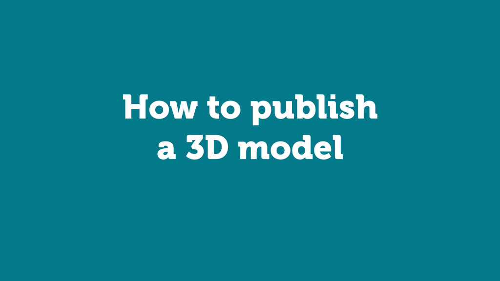How to publish
