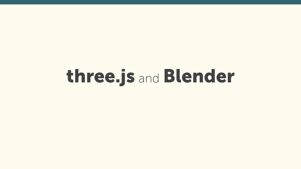 three.js and Blender