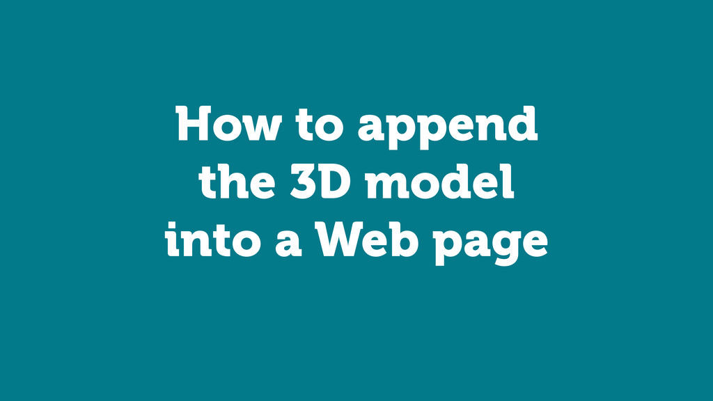 How to append