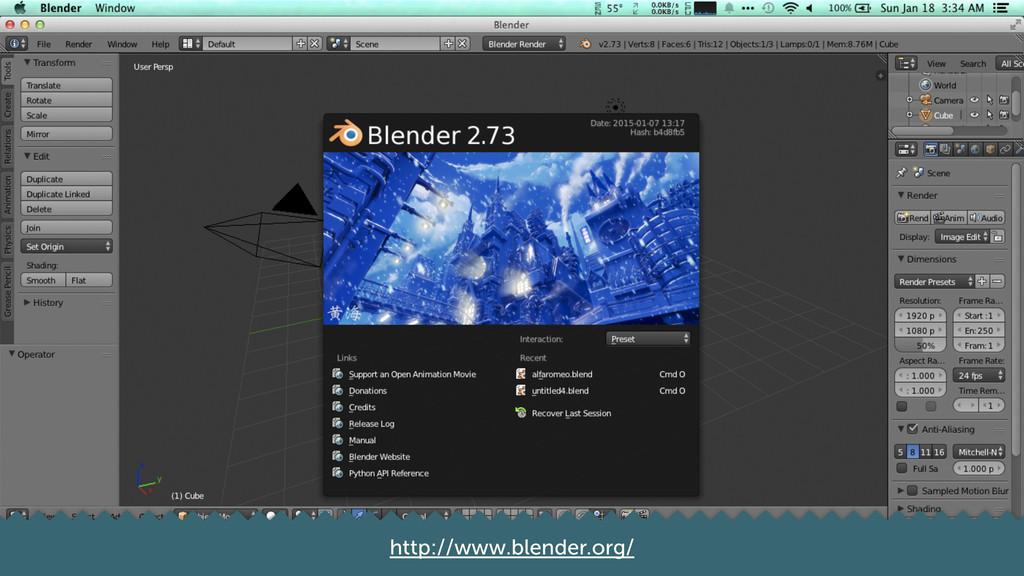 6 http://www.blender.org/