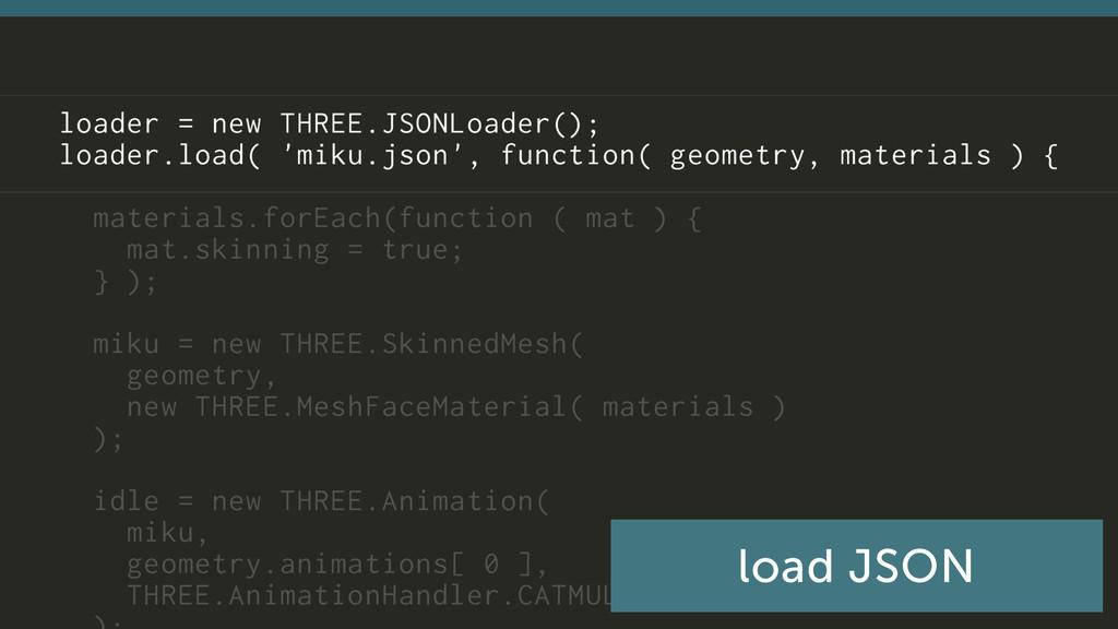 load JSON