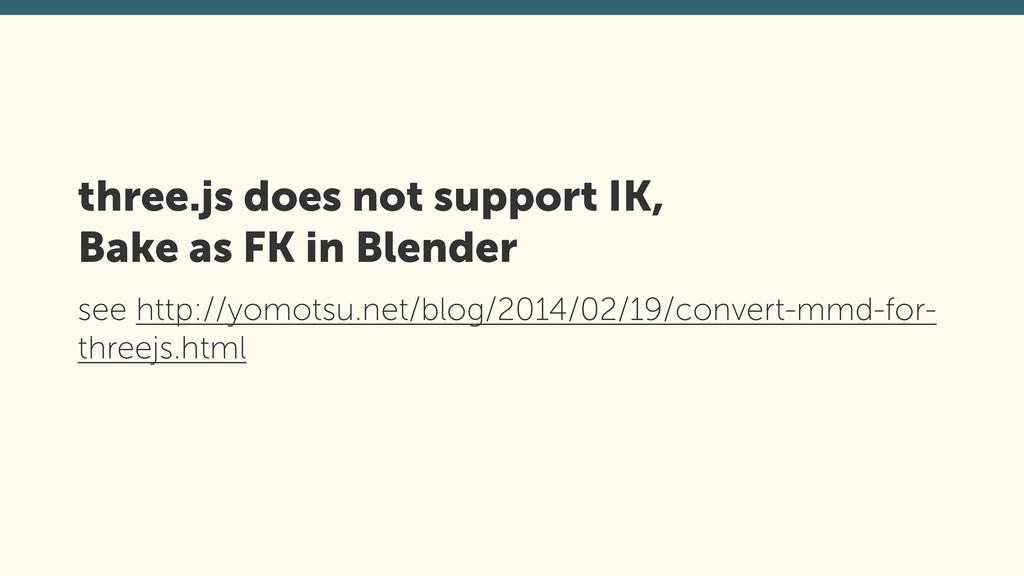 three.js does not support IK,