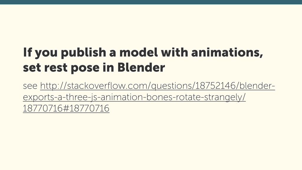 If you publish a model with animations,