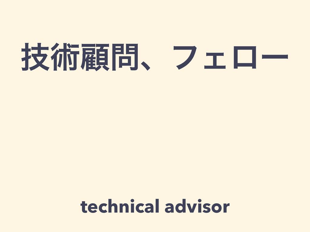 ٕज़ސɺϑΣϩʔ technical advisor