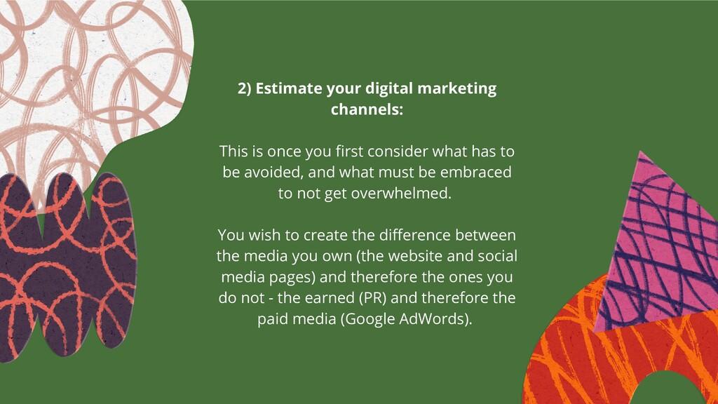 2) Estimate your digital marketing channels: ...