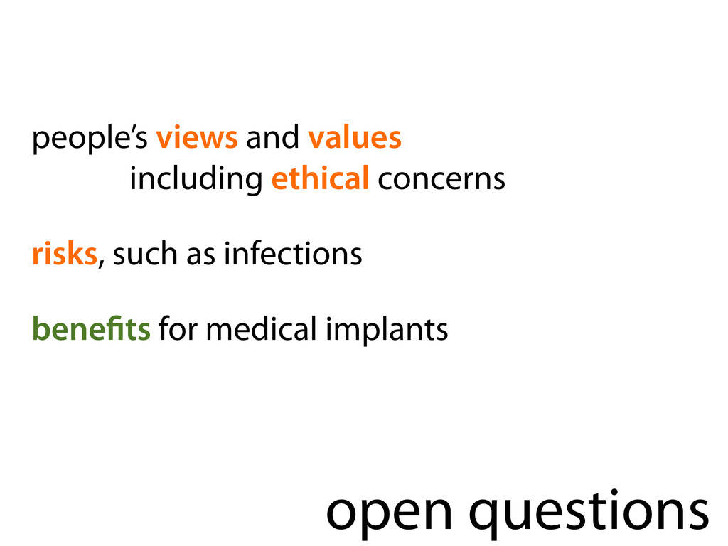 open questions people's views and values includ...