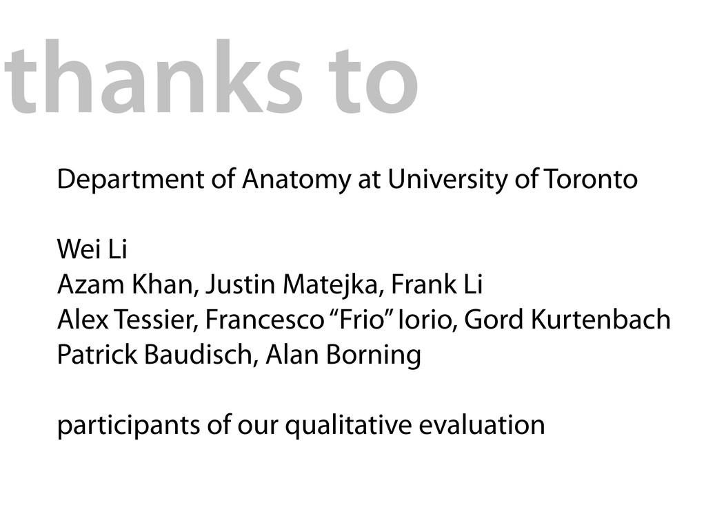 Department of Anatomy at University of Toronto ...