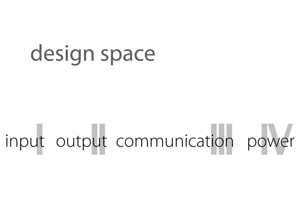 I input II output III communication IV power de...