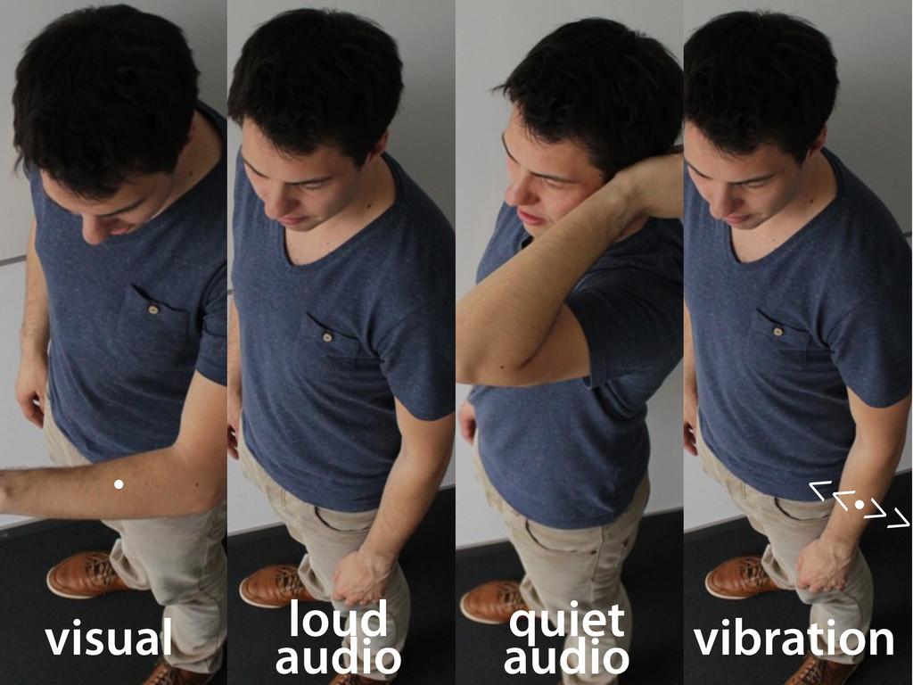 visual • loud audio quiet audio II output <<•>>...