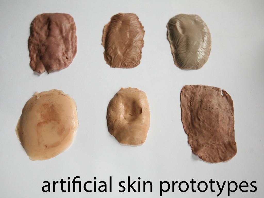 arti cial skin prototypes