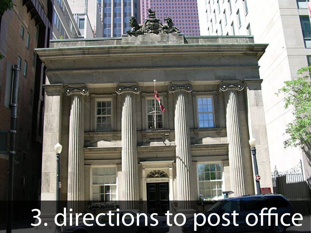 3. directions to post o ce