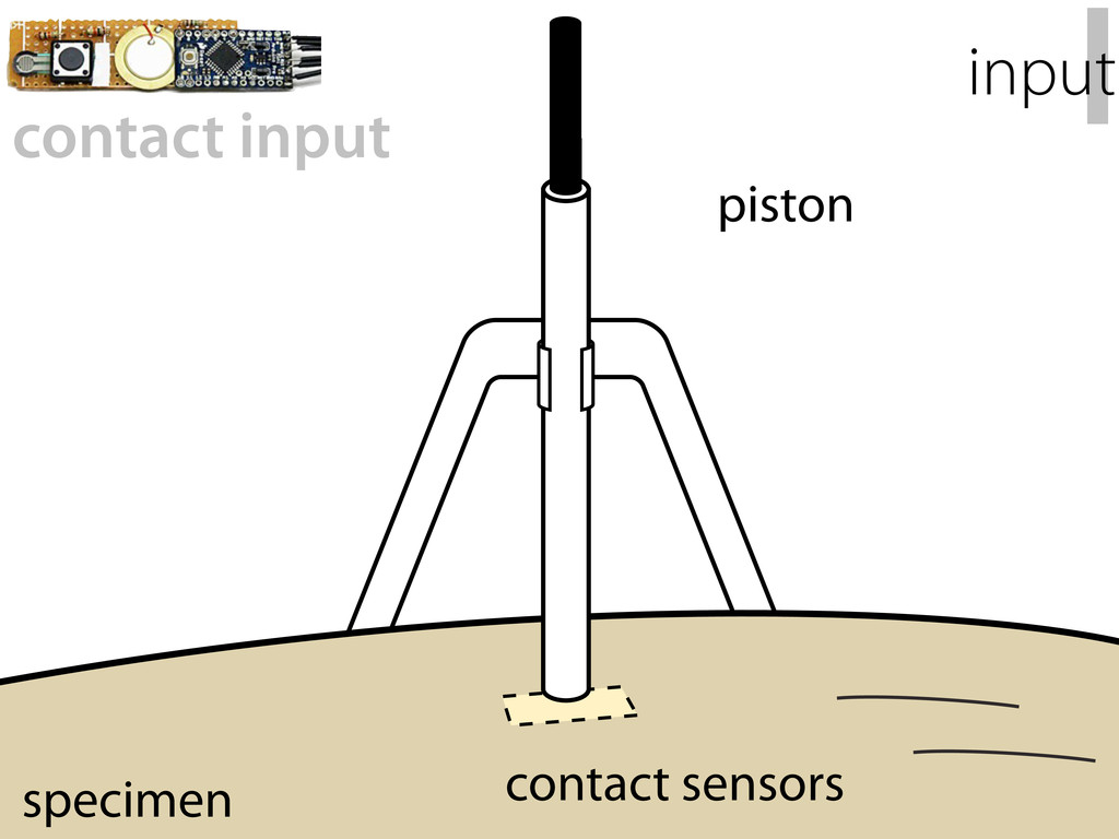 piston contact sensors specimen I input contact...