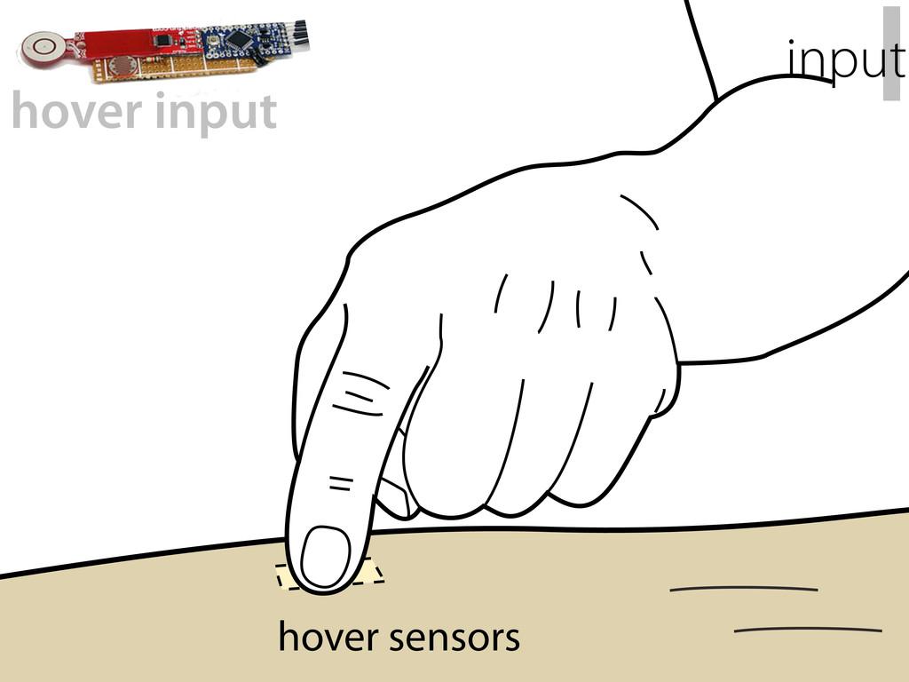 hover sensors hover input I input