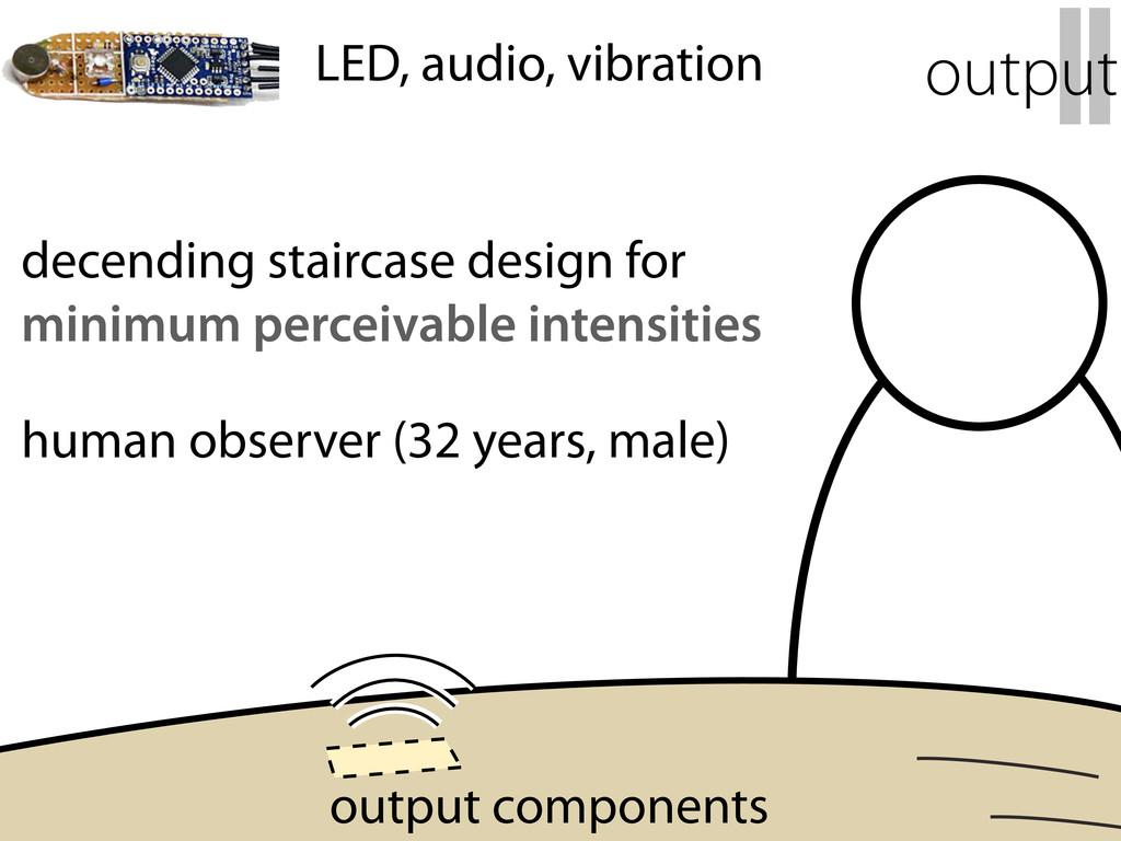 decending staircase design for minimum perceiva...