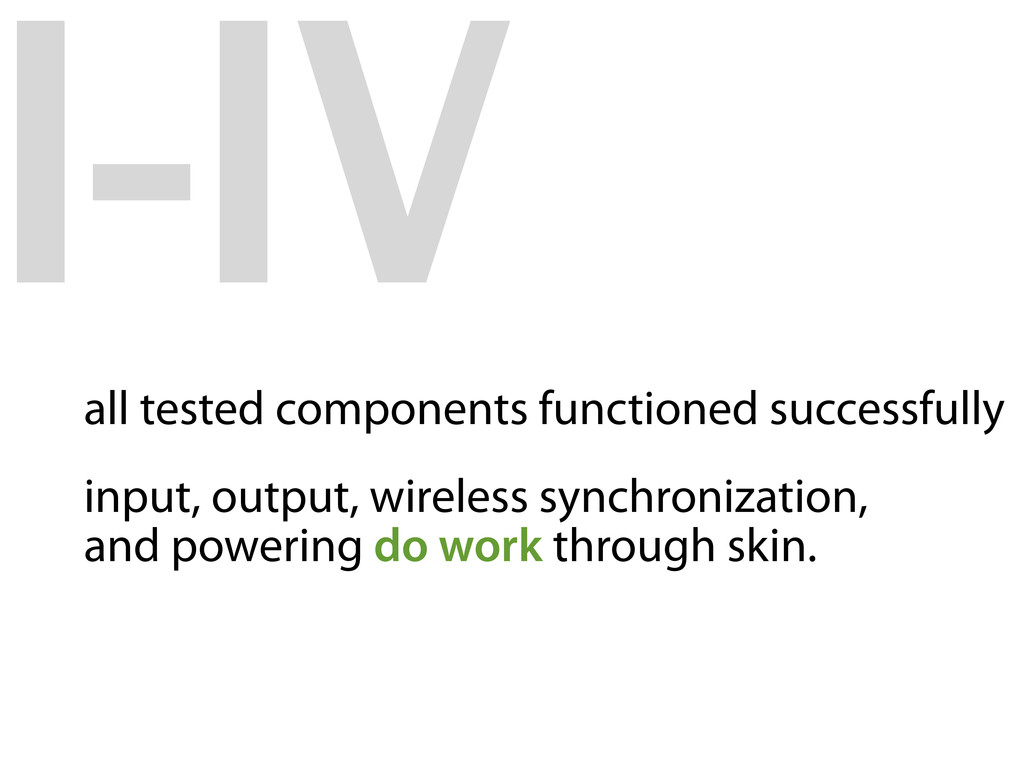 I-IV all tested components functioned successfu...