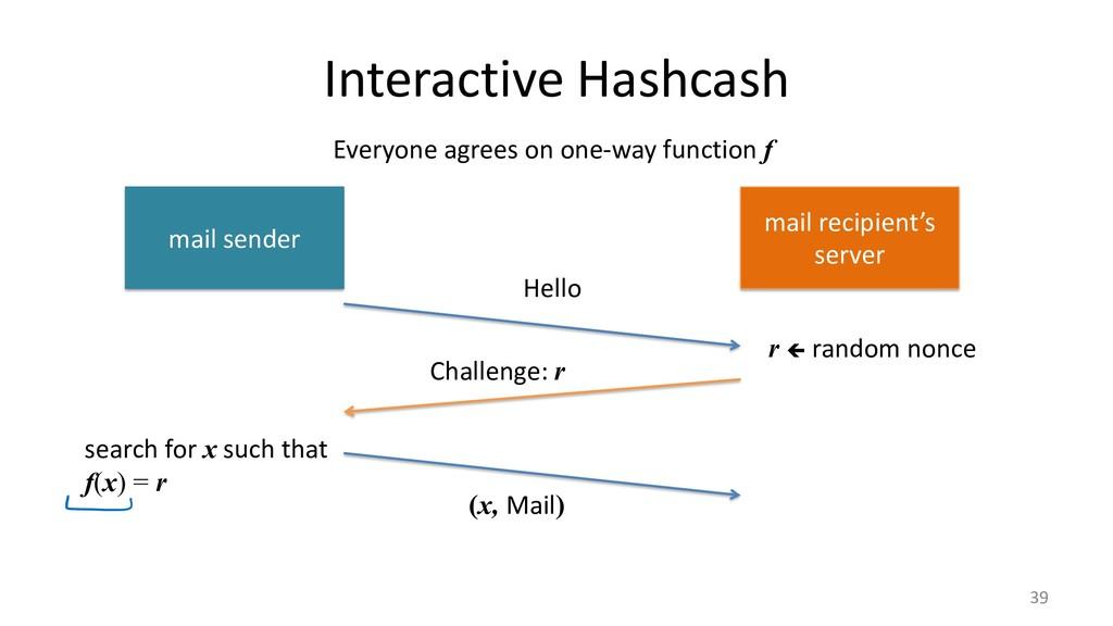 Interactive Hashcash 39 mail sender mail recipi...