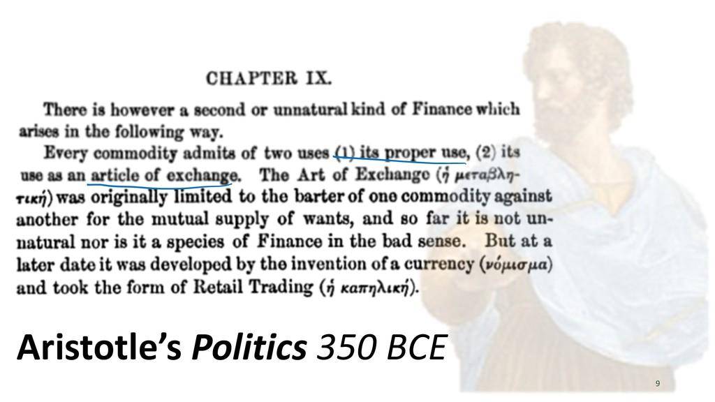 9 Aristotle's Politics 350 BCE