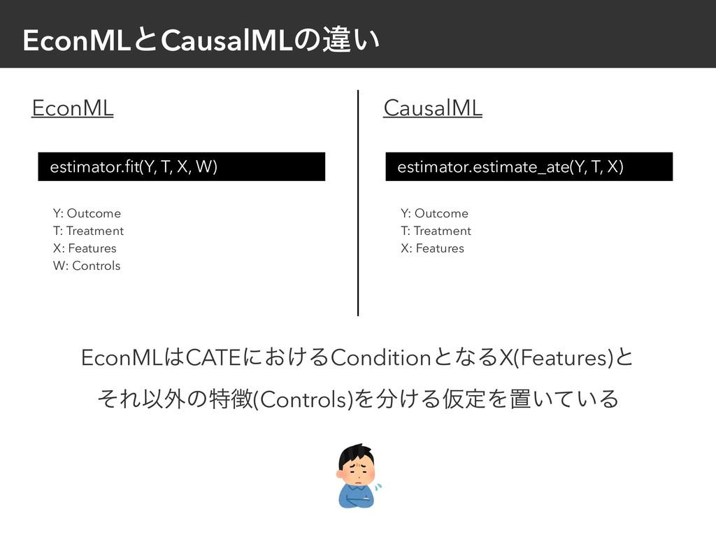 EconMLͱCausalMLͷҧ͍ EconML CausalML estimator.fit...