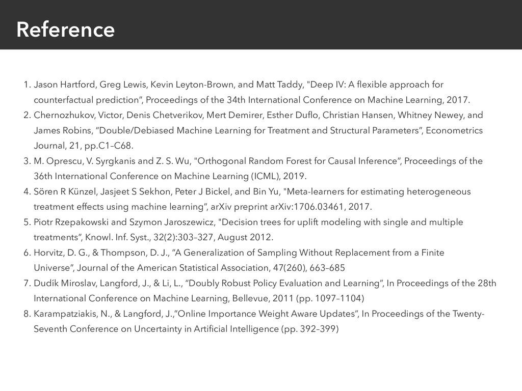 Reference 1. Jason Hartford, Greg Lewis, Kevin ...